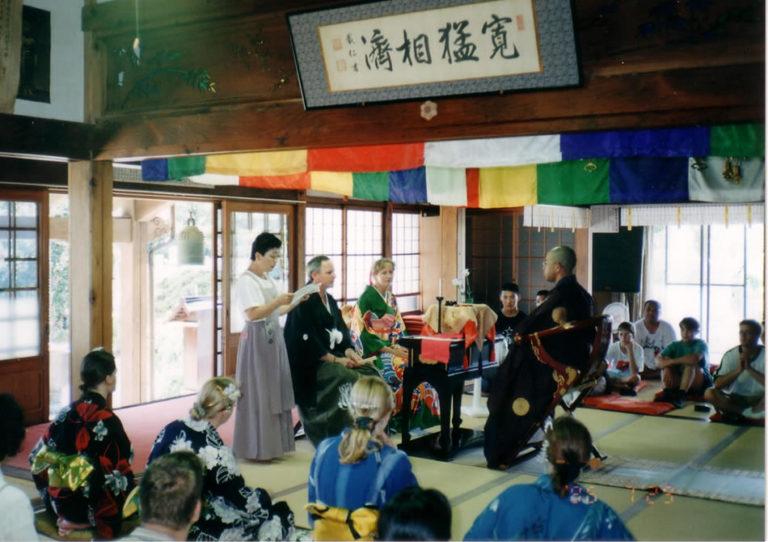 Shintoistische Trauzeremonie für Norbert Schulz und Anne Mai